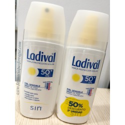 LADIVAL DUPLO SPRAY CORPORAL ADULTOS PIELES SENSIBLES O ALÉRGICAS SPF30 OIL-FREE