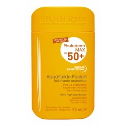 BIODERMA PHOTODERM MAX SPF50+ AQUAFLUIDE POCKET SIN COLOR